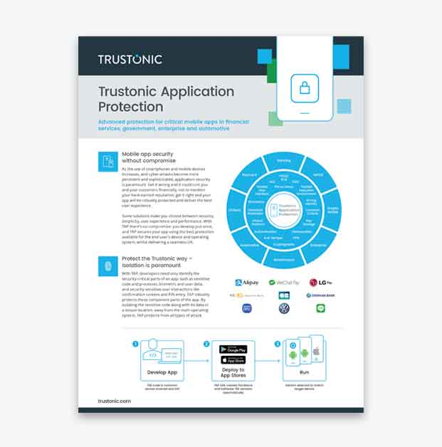 Trustonic Application Protection Download Product Information