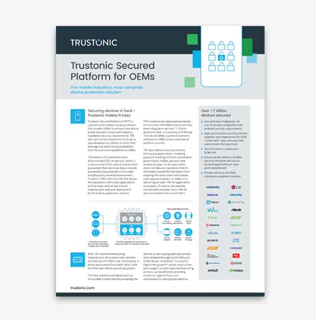 Mobile Device Security with Trustonic Secured Platform