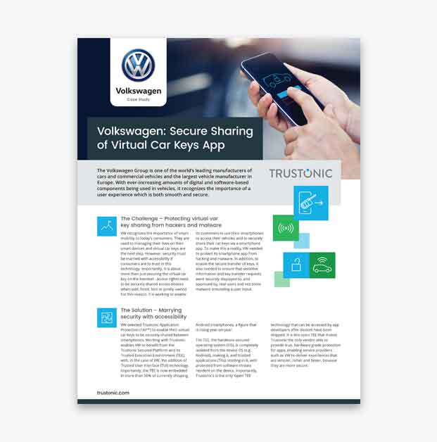 Volkswagen Digital Car Key Sharing App