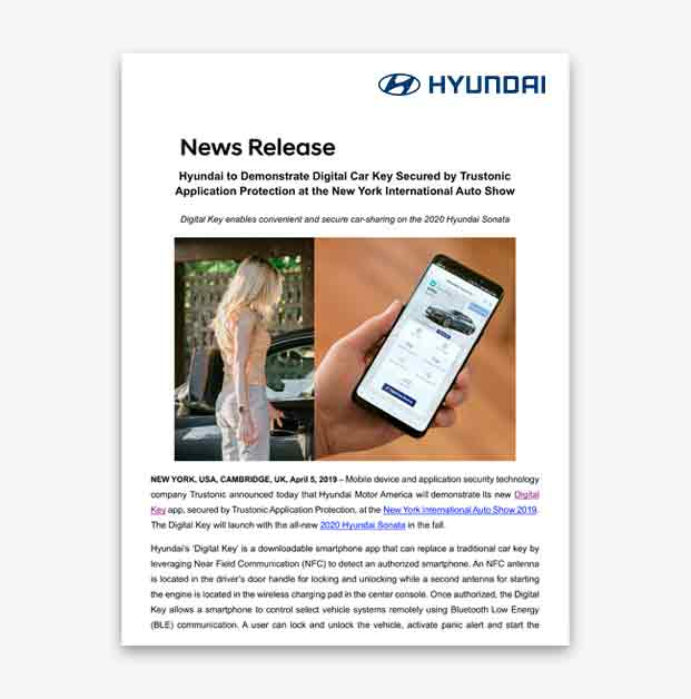 Hyundai Digital Key and Connected Car Technology