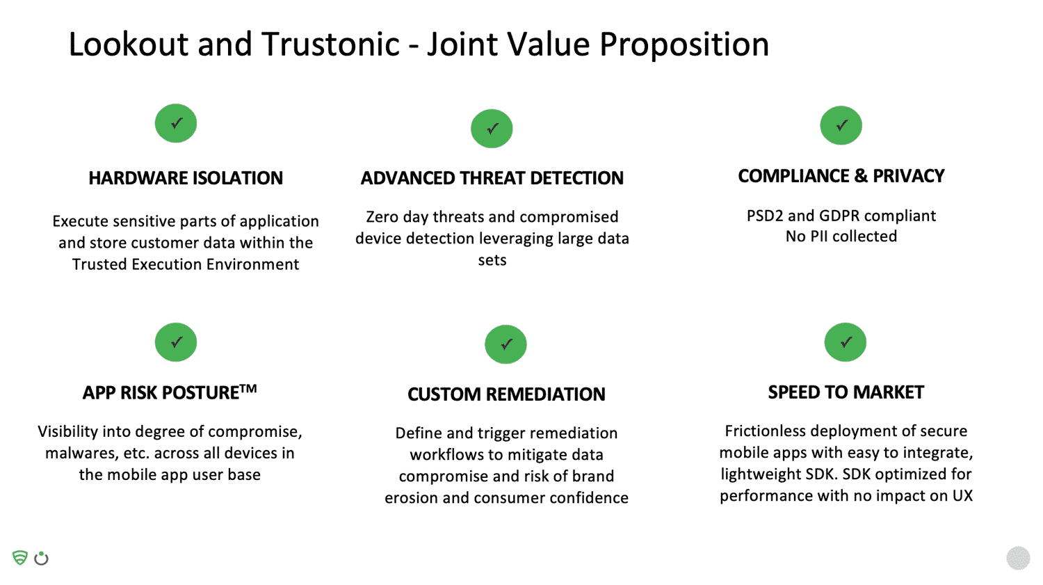 Lookout and Trustonic - Joint Value Proposition