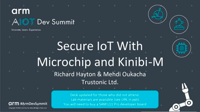 Webinar: Secure IoT with Microchip and Kinibi-M