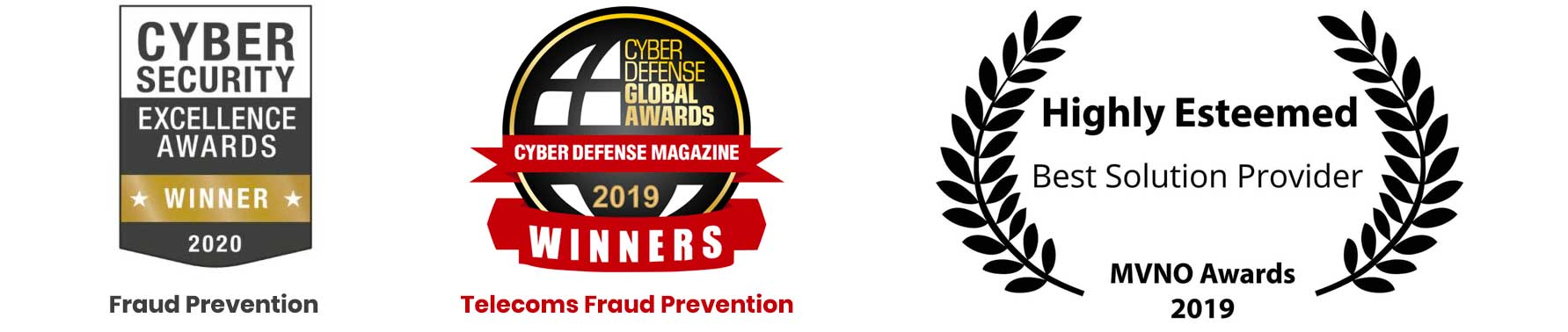 Cybersecurity Awards, Fraud Prevention Winner, Best-Solution-Provider