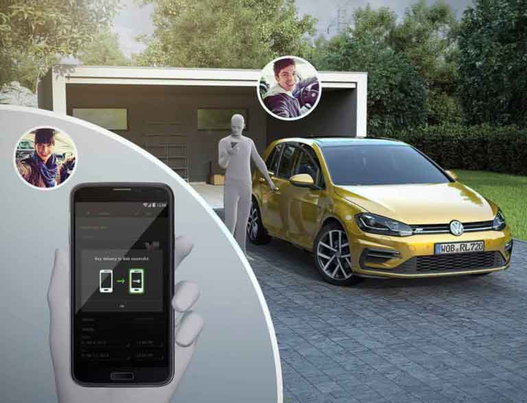 Volkswagen-Secure Digital Car Key App